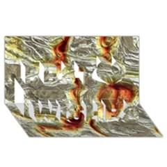 Brilliant Metal 3 Best Wish 3D Greeting Card (8x4)
