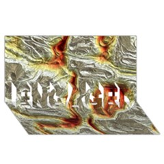 Brilliant Metal 3 Engaged 3d Greeting Card (8x4)