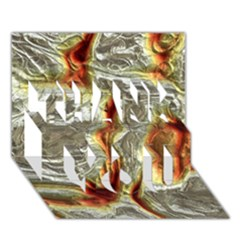 Brilliant Metal 3 Thank You 3d Greeting Card (7x5)