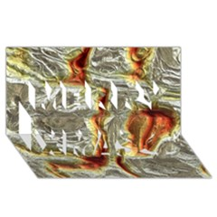 Brilliant Metal 3 Merry Xmas 3d Greeting Card (8x4)