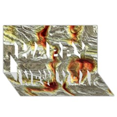 Brilliant Metal 3 Happy New Year 3D Greeting Card (8x4)