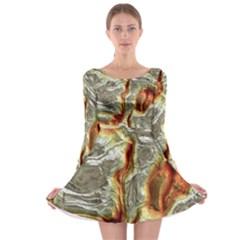 Brilliant Metal 3 Long Sleeve Skater Dress