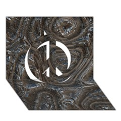 Brilliant Metal 2 Peace Sign 3d Greeting Card (7x5)
