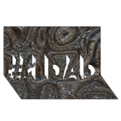 Brilliant Metal 2 #1 Dad 3d Greeting Card (8x4)