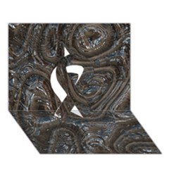 Brilliant Metal 2 Ribbon 3D Greeting Card (7x5)