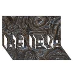 Brilliant Metal 2 Believe 3d Greeting Card (8x4)