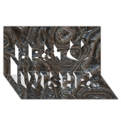Brilliant Metal 2 Best Wish 3d Greeting Card (8x4)