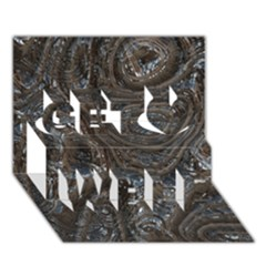 Brilliant Metal 2 Get Well 3d Greeting Card (7x5)