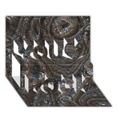 Brilliant Metal 2 You Rock 3d Greeting Card (7x5)