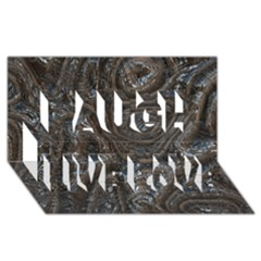 Brilliant Metal 2 Laugh Live Love 3d Greeting Card (8x4)