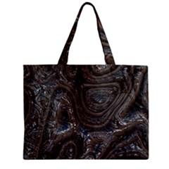 Brilliant Metal 2 Zipper Tiny Tote Bags