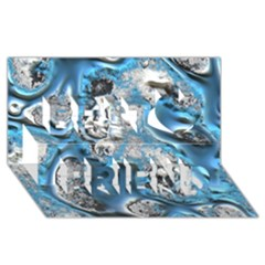 Metal Art 11, Blue Best Friends 3d Greeting Card (8x4)