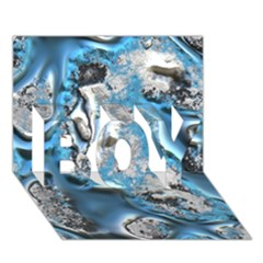 Metal Art 11, Blue Boy 3d Greeting Card (7x5)