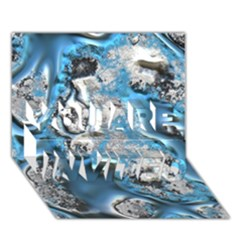Metal Art 11, Blue YOU ARE INVITED 3D Greeting Card (7x5)
