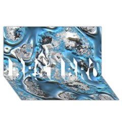 Metal Art 11, Blue BEST BRO 3D Greeting Card (8x4)