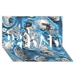 Metal Art 11, Blue #1 Dad 3d Greeting Card (8x4)