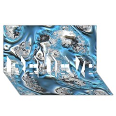 Metal Art 11, Blue BELIEVE 3D Greeting Card (8x4)