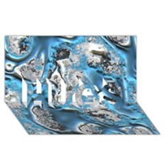 Metal Art 11, Blue HUGS 3D Greeting Card (8x4)