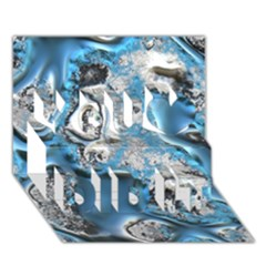 Metal Art 11, Blue You Did It 3D Greeting Card (7x5)