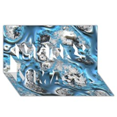 Metal Art 11, Blue Merry Xmas 3D Greeting Card (8x4)