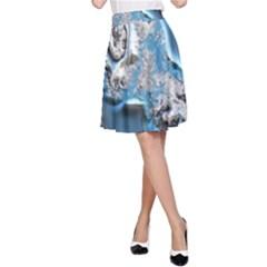 Metal Art 11, Blue A-Line Skirts
