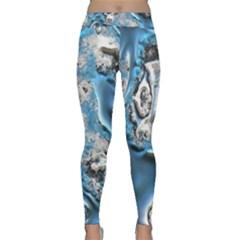 Metal Art 11, Blue Yoga Leggings