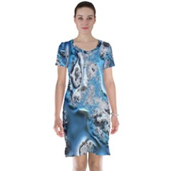 Metal Art 11, Blue Short Sleeve Nightdresses