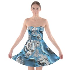 Metal Art 11, Blue Strapless Bra Top Dress