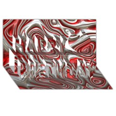 Metal Art 9 Red Happy Birthday 3d Greeting Card (8x4)