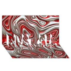 Metal Art 9 Red Best Sis 3d Greeting Card (8x4)