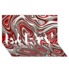 Metal Art 9 Red PARTY 3D Greeting Card (8x4)