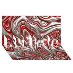 Metal Art 9 Red Believe 3d Greeting Card (8x4)