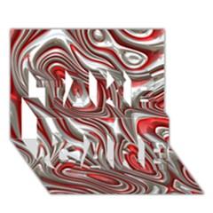 Metal Art 9 Red TAKE CARE 3D Greeting Card (7x5)