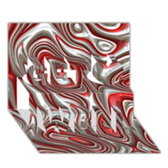 Metal Art 9 Red Get Well 3D Greeting Card (7x5)