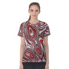 Metal Art 9 Red Women s Cotton Tees