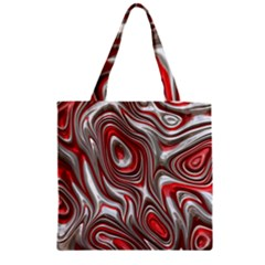 Metal Art 9 Red Zipper Grocery Tote Bags