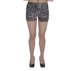 Brown Cheetah Abstract  Skinny Shorts