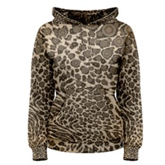 Brown Cheetah Abstract  Women s Pullover Hoodies