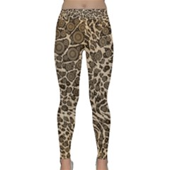 Brown Cheetah Abstract  Yoga Leggings