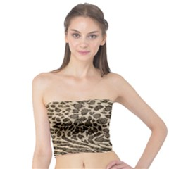 Brown Cheetah Abstract  Women s Tube Tops