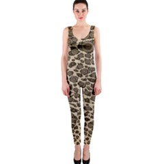 Brown Cheetah Abstract  OnePiece Catsuits