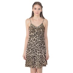 Brown Cheetah Abstract  Camis Nightgown