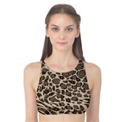 Brown Cheetah Abstract  Tank Bikini Top