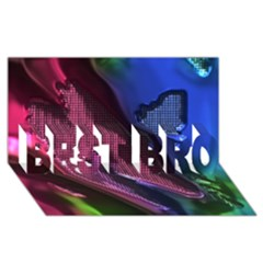 Colorful Broken Metal Best Bro 3d Greeting Card (8x4)