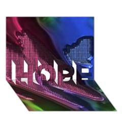 Colorful Broken Metal HOPE 3D Greeting Card (7x5)