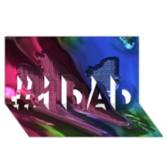 Colorful Broken Metal #1 Dad 3d Greeting Card (8x4)