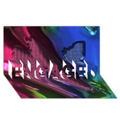 Colorful Broken Metal ENGAGED 3D Greeting Card (8x4)