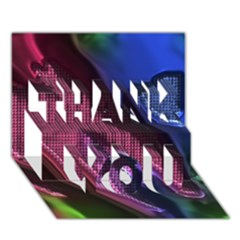 Colorful Broken Metal Thank You 3d Greeting Card (7x5)