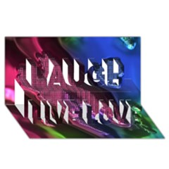 Colorful Broken Metal Laugh Live Love 3D Greeting Card (8x4)