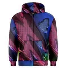 Colorful Broken Metal Men s Zipper Hoodies